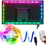 Tira LED TV 3M, OMERIL Luces LED TV RGB con 21 Modos y 16 Colores, Tiras LED USB con Control Remoto, Retroiluminación LED par