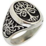 Tree of Life 925 Sterling Silver Turkish Jewelry Men Ring