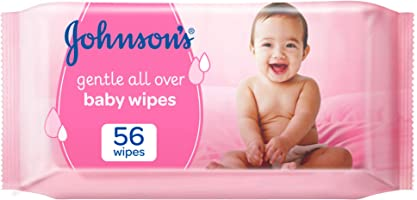 JOHNSON'S Baby, Wipes, Gentle All Over, Pack of 56 wipes