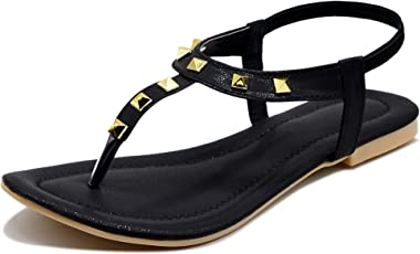Midsole Women's Classy Black Embellished Back Strap Casual Fashion Sandals - (FT5007C)