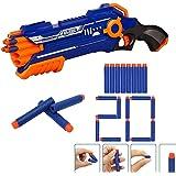 Toyshine Dual Foam Blaster Gun, Shoots 2 Darts at Once with 20 Foam Darts Free Toy for Boys Unbreakable Gun Toy-B2