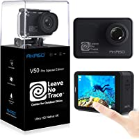 AKASO Action Cam WiFi Native 4K/60fps 20MP Touch Screen Telecomando EIS 39m Impermeabile 3 Batterie 170° Angolo…
