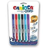CARIOCA Oops Penne Colorate| Set Penne Cancellabili Ricaricabili per Scuola e Ufficio con Cappuccio, Doppia Gomma e Impugnatu