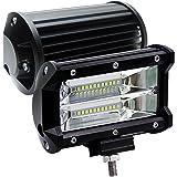 2 X 72W LED Arbeitsscheinwerfer 5 Zoll Zusatzscheinwerfer IP67 wasserdicht Offroad Scheinwerfer für Jeep SUV(2 Stück)