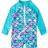TUPOMAS Baby Toddler Boys Girls Swimsuit UPF 50+ Rashguard Swimwear One-Piece Long Sleeve Bathing Suits 6-36 Months