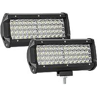 YEEWEN-Moto Lampade 7 pollici 75W rotonda proiettore LED della lampadina del faro for Harley Motorcycle LED Headlight Color : Black