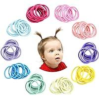 Hanyousheng 200 Pezzi 2mm Multicolore Capelli Elastic Fasce per Capelli Nessun Metallo Dolci Elastici, Bambino Ragazze…