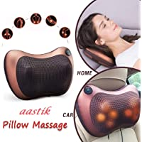 AASTIK Car Seat Electric Pillow Massager For Body Pain Relief &Neck Back Shoulder Pillow (Brown)