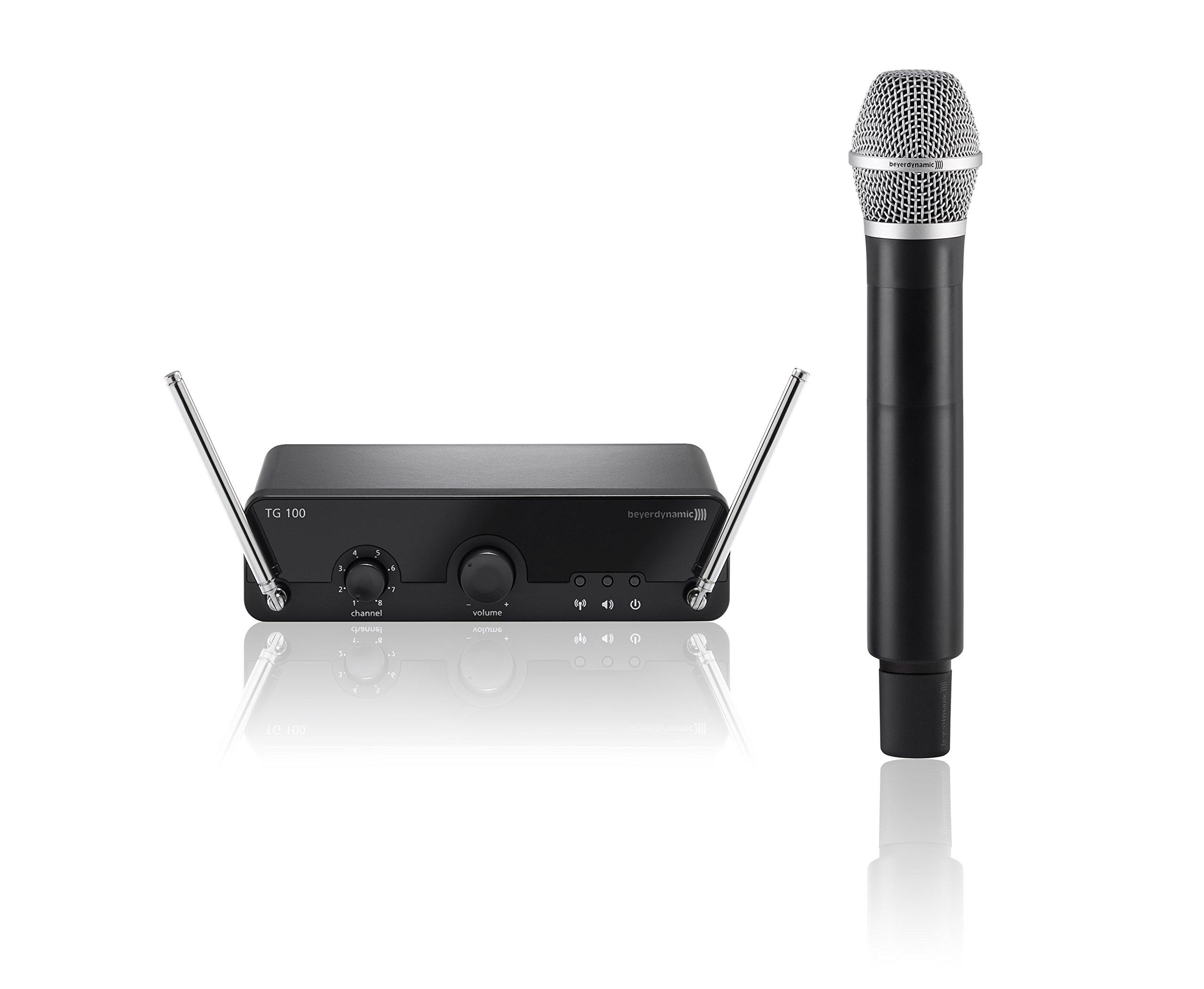 beyerdynamic TG 100 - Micrófono inalámbrico de mano para canto y voz, 174-184 MHz