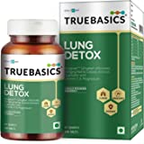 HealthKart TrueBasics Lung Detox, 100% natural, Prevents lungs from smoking & Pollution, 90 capsules