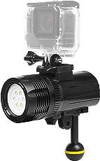 D & F Wasserdichte Taschenlampe LED-Licht 1000LM Tauchen 60m Video Fotografie Taschenlampe Lampe für GoPro Hero 6/5/4/HERO(2018), SJCAM , Xiaomi Yi APEMAN AKASO Aktion Sport Kamera