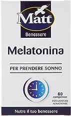 Matt - Melatonina Compresse da 1mg - Integratore per Prendere Sonno - Confezione da 6,8 gr