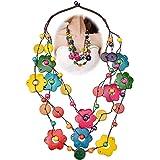 Collana Etnica Bohémien Lunga Collana Donna Boemia Retro Collana di Perline a Strati Colorati Collana Gioielli Conchiglia di