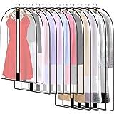 12PCS Housses de Vêtements avce Zip, Anti Poussière Etanche Mite Humidité, Anti-Poussière Housses de Protection Transparentes