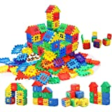 Chocozone 72pcs Blocks House Multi Color Building Blocks with Smooth Rounded Edges - Building Blocks for Kids- Blocks…