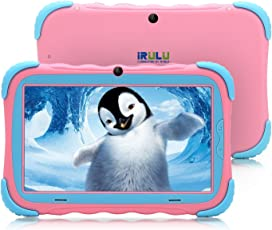 7 Zoll Android 7.1 Kinder Tablet IPS HD Bildschirm 1GB/16GB Babypad Edition PC mit Wifi und Kamera und Spiele Google Play Store Bluetooth unterstützt Kinder-Proof Case GMS Zertifiziert iRULU Y57 (Pink)