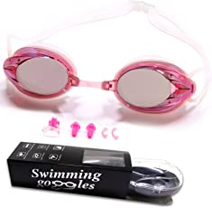 WHCREAT Schwimmbrille, Gespiegelt Schwimmbrille Anti-Nebelglas UV-Schutz Kein Auslaufen, Verspiegelte Taucherbrille für Erwachsene Männer Frauen Kinder 10+
