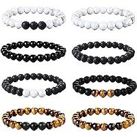 Adramata 8 pièces 8 MM Perles Bracelet pour Hommes Femmes Oeil de Tigre Bracelet Bracelet Pierre Naturelle Perles…