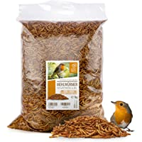 wild animal heart   Dried Mealworms 6.5 liters - Premium Mealworms for Birds such as Robins, Titmouse, Blackbird & Co, Rearing - Snack for Wild Birds & Hedgehogs in Feeding Station, Feeder & Birdtable