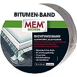 MEM Bitumenband, zelfklevende afdichtband, UV-bestendige beschermfolie, dikte: 1,5 mm, afmetingen: 7,5 cm x 10 m, kleur: alum