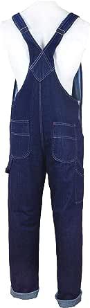 GREAT BIKERS GEAR - Men's Denim Dungarees Jeans Bib and Brace Overall Pro Heavy Duty Workwear Pants