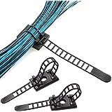 NATUCE 50 stks herbruikbare kabel clips, verstelbare zelfklevende banden kabel, nylon kabel ritssluitingen en lijm kabel clip