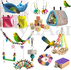 Veena Type 11 Hamster Hammock Hangin Colorful Parrot Swing Bird Toy Nest Bed Rope Cage Toys Parakeet Cockatiel Budgie