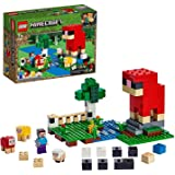 LEGO 21153 Minecraft Bouwset The Wollen Boerderij, met Figuren van Schapen en Steve, Speelgoed voor Kinderen vanaf 7 Jaar