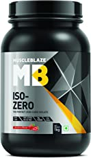 Muscleblaze Iso-zero Zero-carb 100% Whey Protein Isolate (Strawberry, 1 Kg / 2.2 lb)