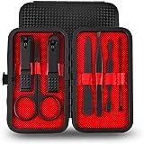 Beauté Secrets 7 in 1 Manicure set Professional Black Stainless Steel Nail Clipper Kit Finger Plier Nails art Pedicure…