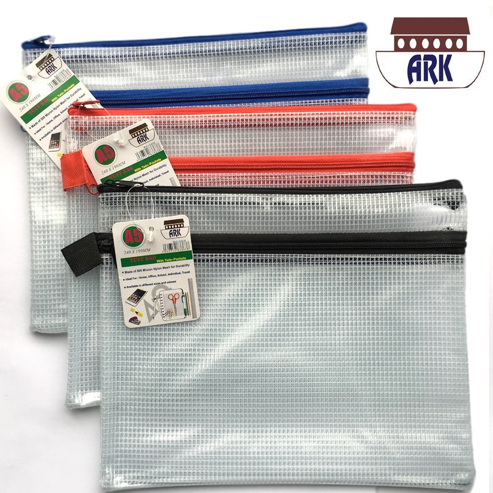 1 Pack Tuff Bags Clear Reinforced Storage Folders Bags Zippa Zip Wallet Case Heavy Duty 301340 13cm X 8cm Mini