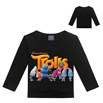 PCLOUD Trolls Girls and Boys Long Sleeve T-Shirt for 2-14Y
