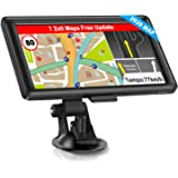 GPS Navigation for Car, Truck Car Touchscreen 7 Inch 8G 256M Voice Guide Flash Warning with POI Lifetime Free Map Update Navigation Device Lane Assistant EU UK 48 Maps