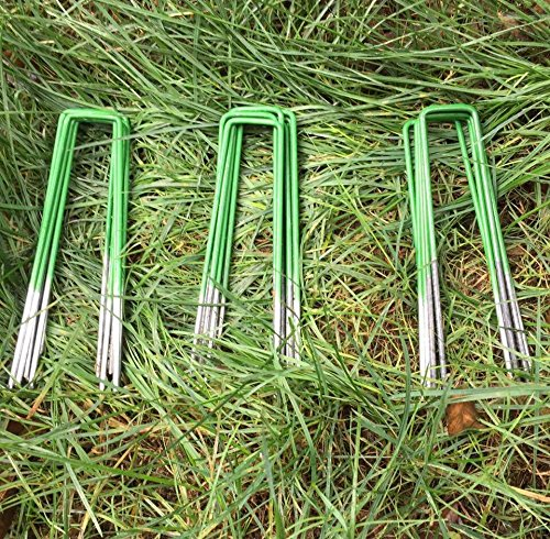 100-pack-half-green-artificial-grass-turf-u-pins-metal-galvanised-pegs-staples-weed