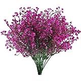 HUAESIN 4pcs Flores Artificiales Decoracion Jarrones, Falsa Planta Artificial Exterior Interior con Rama de Arbusto Narciso P