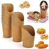 UPKOCH 100 stks Wegwerp Snack Containers Kraft Papier Bekers Houder Franse Fries Bekers Neem Party Frozen Dessert Supplies Ba