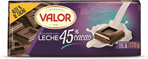 Valor, Chocolate con leche intenso 45% Cacao- 170 gr.