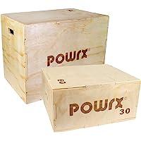 POWRX Box pliometrico in Legno 3 in 1 - Plyo Box Ideale per Esercizi di »pliometria« ed incremento della Forza esplosiva…