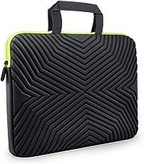 Tizum Z17 13-inch to 14-inch Designer Ultra Slim Handle Sleeve Bag with Shock Proof Foam Protection for Laptops (Black)