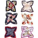 VBIGER Pañuelo de Seda Cuadrado para Mujer,12 pcs o 6 pcs