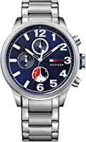 Tommy Hilfiger Jackson Men's Blue Dial Stainless Steel Chronograph Watch - 1791242