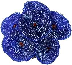 Generic Artificial Coral Soft Ornament Decor Plant for Aquarium Fish Tank (Blue)
