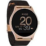 X-WATCH 54030 JOLI XW PRO – Smartwatch da donna iOS/Android – Orologio fitness con informazioni WhatsApp, nero velluto
