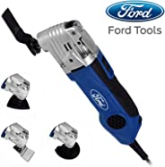 Ford 300 Watts Multi Tool with Quick Lock System, Corded Electric Variable Speed Oscillating Multi Tool with Accessories Set,
