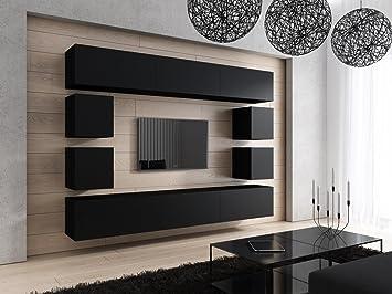 Tv schrank schwarz  FUTURE 17 Moderne Wohnwand, Exklusive Mediamöbel, TV-Schrank, Neue ...