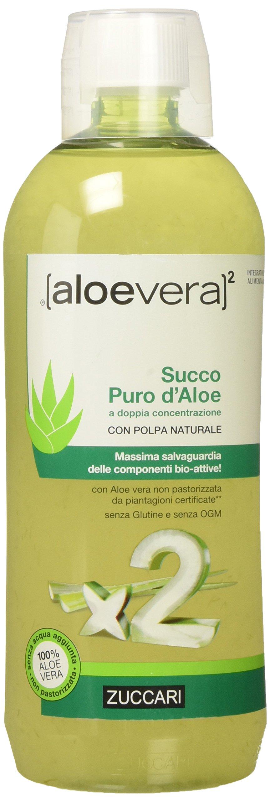 Zuccari Aloevera 2 Succo Puro d'Aloe, 1000 ml 1 spesavip