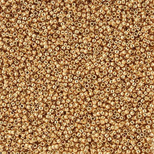 Toho Perlen, Größe 15/0, Rosegold galvanisiertes PermaFinish (Seed Bead Projekte)