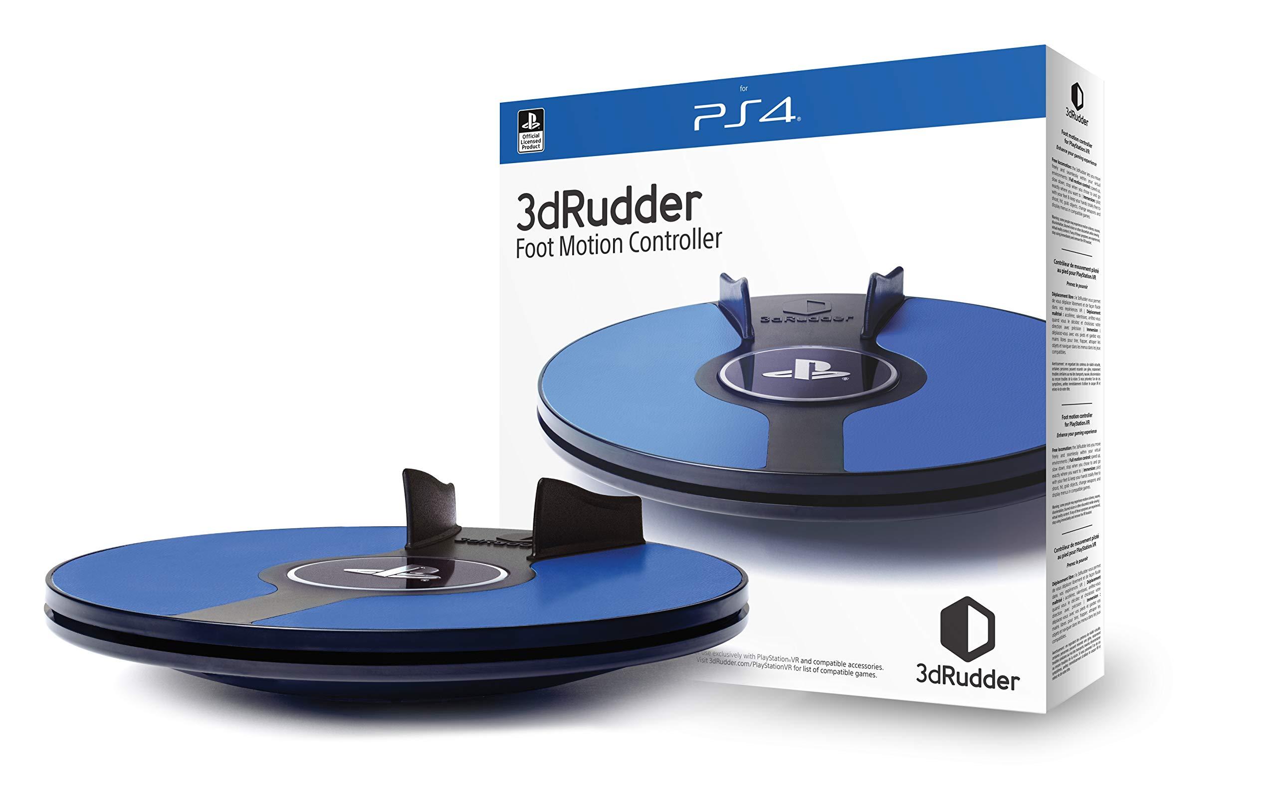 3dRudder PlayStation VR – Contrôleur de déplacement – PlayStation 4 et PSVR – Accessoire de jeu sous Licence Officielle PlayStation