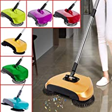 Rachees Easy to Spin Hand Push Sweeping Broom Floor Dust Cleaning Sweeper Mop