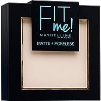 Maybelline New-York - Poudre Compacte Fit Me Matte & Poreless - Peaux normales à grasses - 100 Ivoire Doré - 9 g